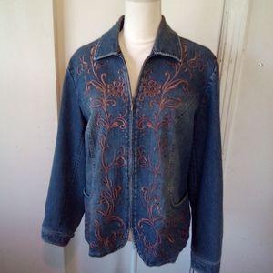 Coldwater creek jean jacket size L